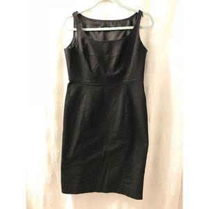 Nine West dark dark charcoal black suit dress 6P
